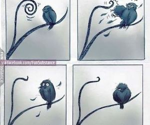 slenderman, bird, and funny image