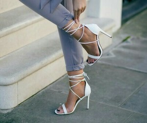 amazing, cute heels, and white high heels image