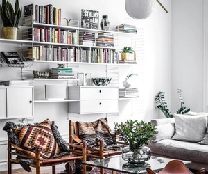 books, couch, and house image