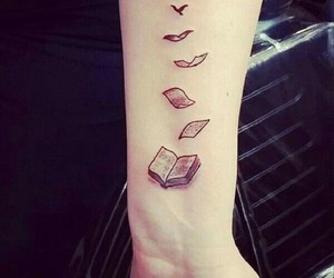 books and tattoo image