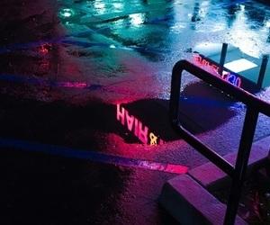 neon, dark, and glow image