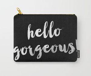 bag, black and white, and pouches image
