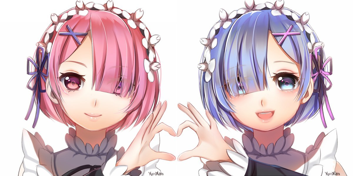 anime, ram, and rem image