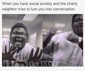 anxiety, funny, and introvert image