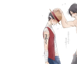 ace, luffy, and one piece image