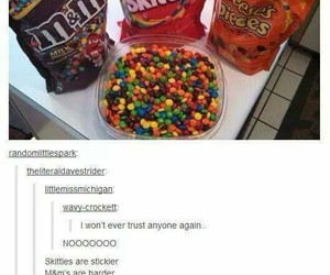funny, skittles, and tumblr image