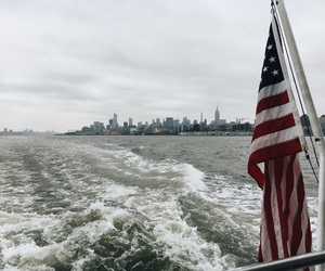 america, american flag, and boat image