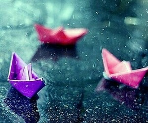 boat, Paper, and paper boat image