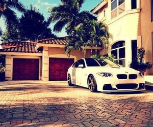 car, bmw, and house image