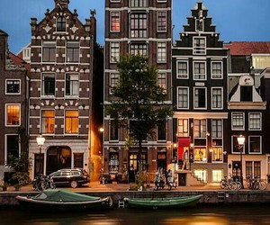 amsterdam, lights, and reflection image