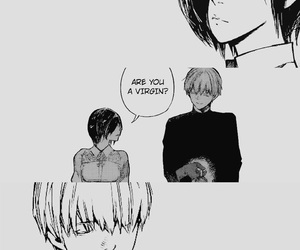 black&white, cute couple, and ghoul image