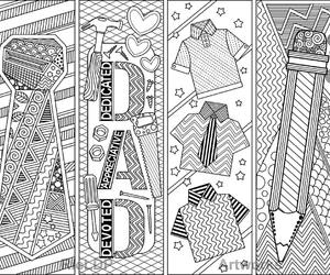 bookmarks, colouring, and daddy image