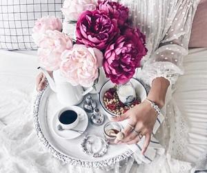 flowers, coffee, and beautiful image