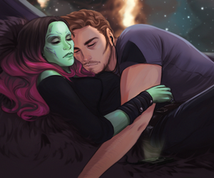 guardians of the galaxy, gamora, and star lord image