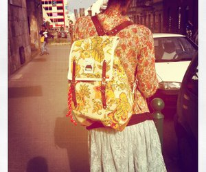 backpack, floral, and limited edition image