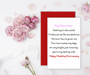anniversary, anniversary with name, and cards image
