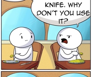 funny, food, and knife image