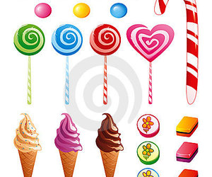 candy, ice cream, and lollypop image
