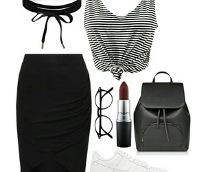 black, Polyvore, and white image