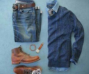 autumn, denim, and jacket image