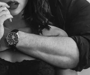 black and white, couple, and romance image