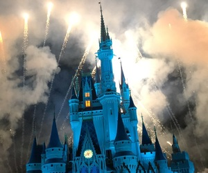 aesthetic, castle, and magic kingdom image