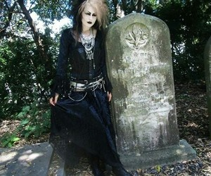 deathrock, victorian, and trad goth image
