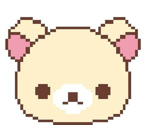 bear, pixel, and rilakkuma image