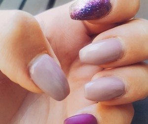 glitter, nails, and purple image