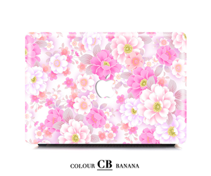 mac cover, macbook case, and flower case image