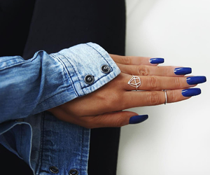 blue, jeans, and nails image