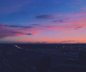 evening, nightfall, and pink image
