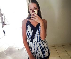 blue, girl, and tan image