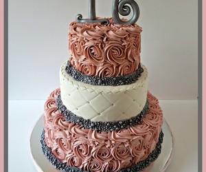 sweet 16 cake, orange county ny cakes, and rosette cake image