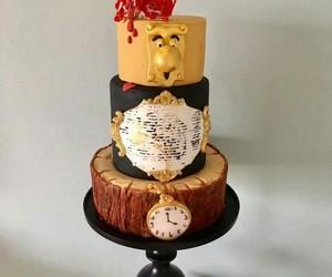 beauty and the beast, cake, and cake art image