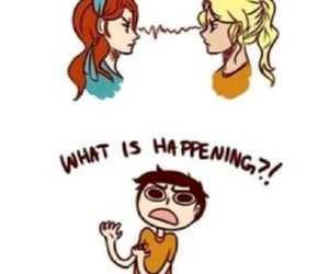 rachel, percyjackson, and annabeth image