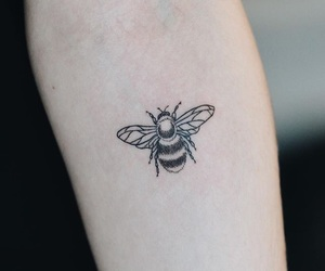 tattoo, bee, and art image