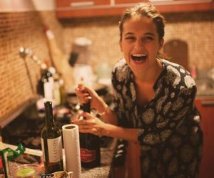 alicia vikander, drink, and girl image