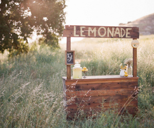 lemonade and lemonade stand image