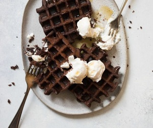 chocolate and waffles image