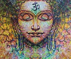 Buddha, trippy, and buddhism image