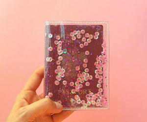 etsy, pink glitter, and gift for traveler image