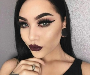 tattoo, beauty, and black hair image