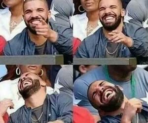 Drake and laughing image