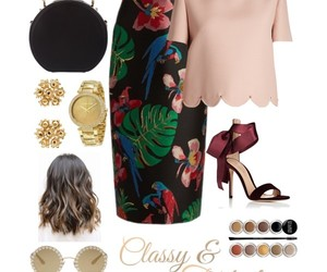 heels, Polyvore, and skirt image