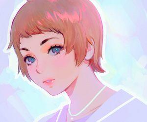 art, manga, and pastel image
