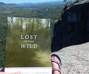 book, nature, and mountain image
