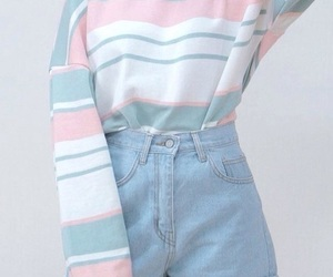 fashion, pastel, and blue image