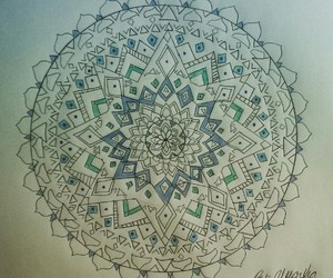 art, mandala, and artwork image