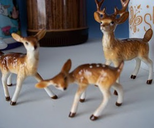 buck, fawn, and Ceramic image